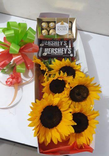 Chocolates con Girasoles